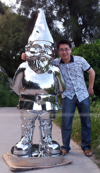 Stainless steel figure