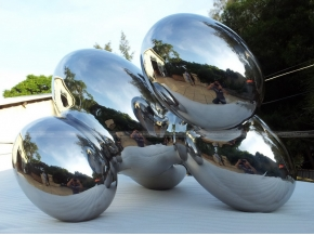 Stainless Steel Cloud Sculpture