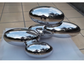 Stainless steel cloud indoor sculpture garden decoration