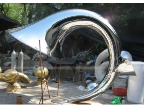 Stainless Steel Flame Sculpture Landscape Sculpture