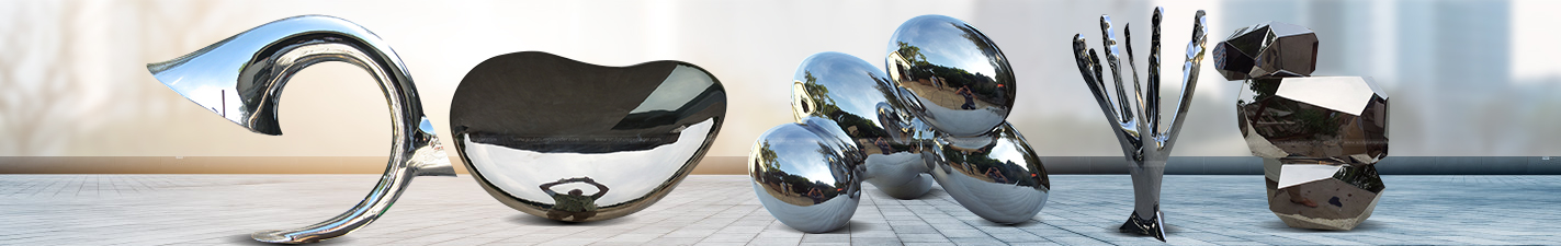 Polished Stainless Steel Sculpture